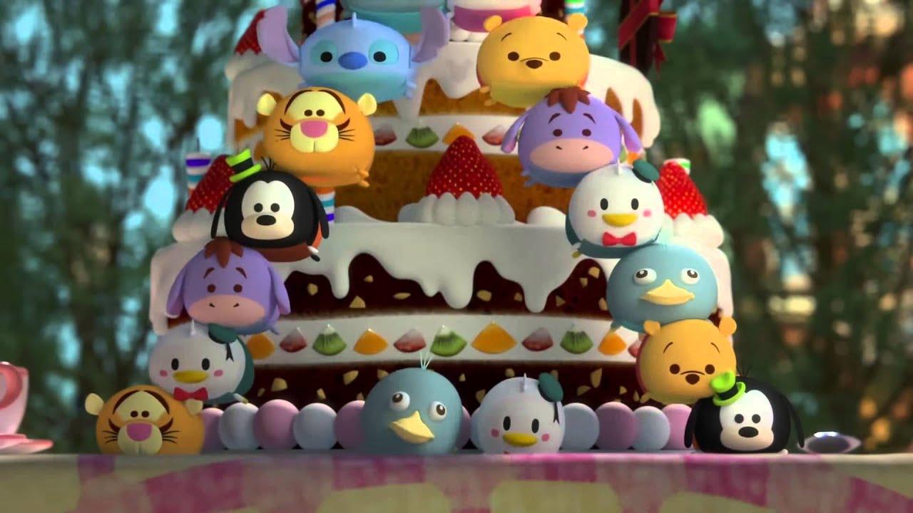 Cake Decoration Disney : Mission Cake Decoration A Tsum Tsum short Disney - YouTube