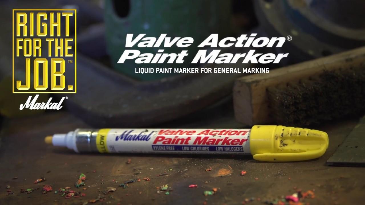 Markal Valve Action Paint Marker Blanc MRK-96820