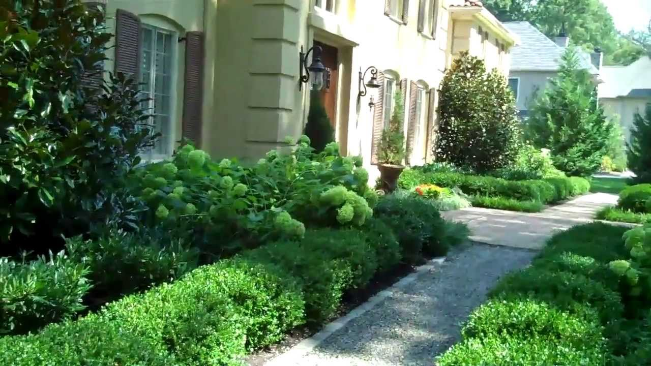 Lovely Formal Front Yard Landscaping Ideas Part - 8: Landscape Design/Formal Garden On Philadelphiau0027s Main Line/ Main Line Landscape  Design - YouTube