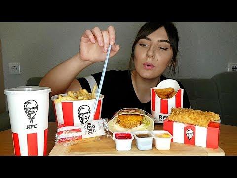 MUKBANG | KFC | Ланч баскет, крылья КФС | Eating Show| 먹방 |не ASMR