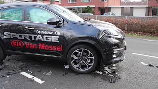 Forse schade na aanrijding in Apeldoorn