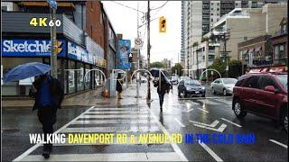 Toronto MISERABLE May Weather Walk - Along Davenport \u0026 Avenue Rd On A Cold, Rainy \u0026 Windy Spring Day