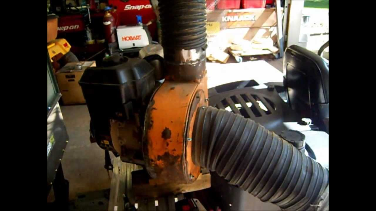 Lawn Leaf Vac System Fab Part 13 Motor Is Mounted Youtube