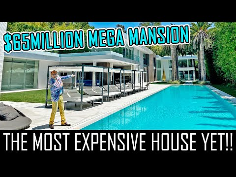 $65MILLION BEL AIR MEGA MANSION WITH A BEAUTY SALON AND SPA!!