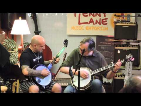 Tony Trischka and Armando Zuppa Play Big Mon on Banjo at Penny Lane Emporium