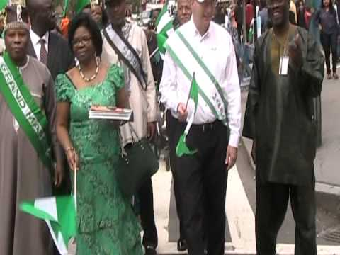 Rogue Officials waving Empty Flags at 52ND Anniversary of Nigerian Independence in NYC..