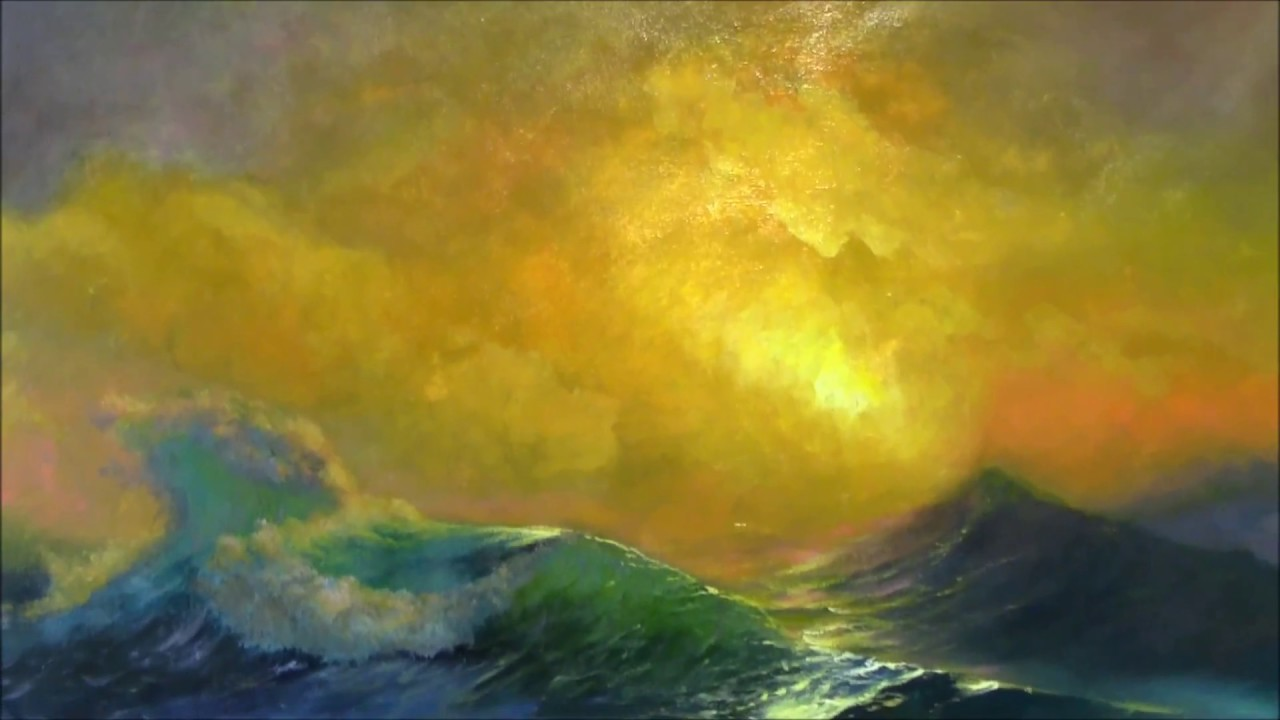Painting Aivazovsky's The Ninth Wave at Allartclassic Studio - YouTube