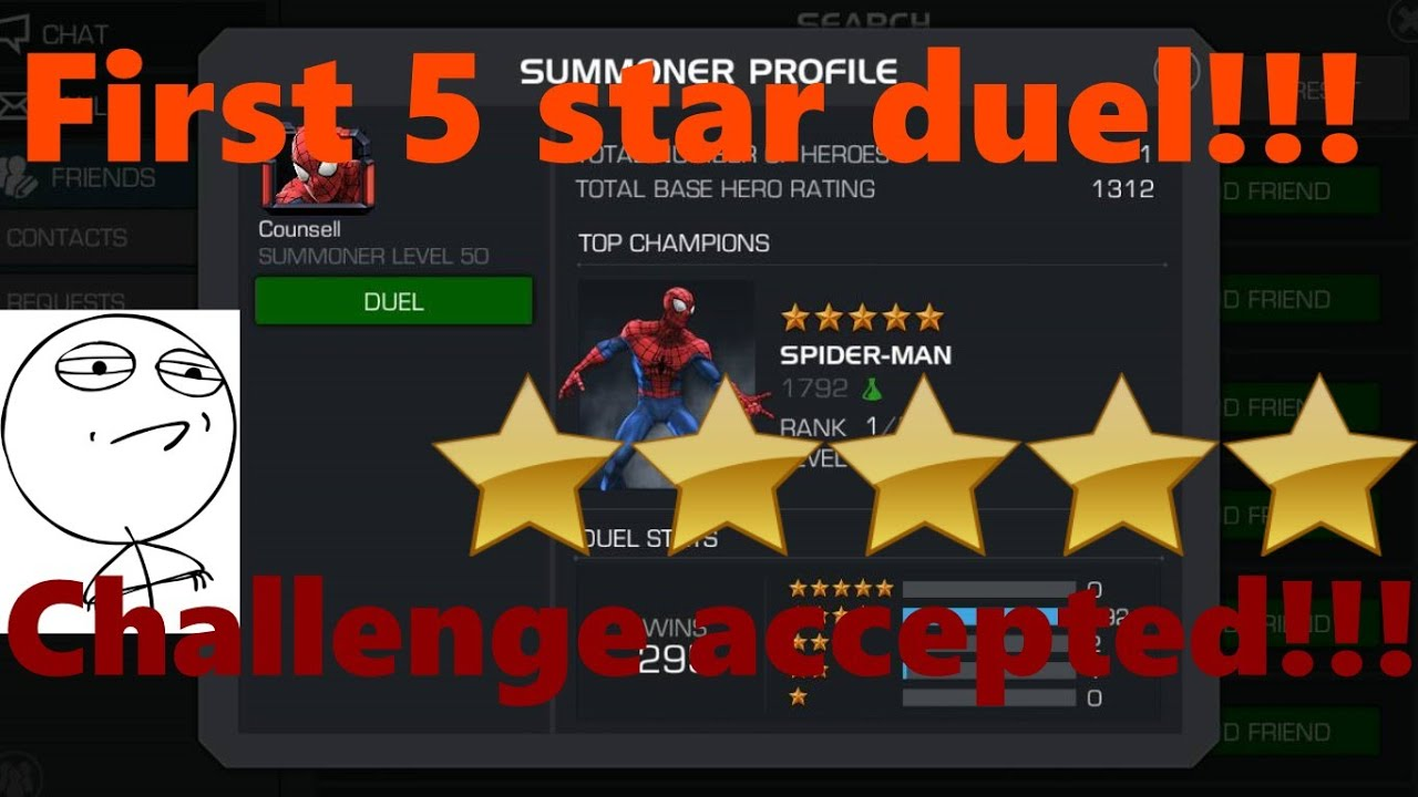 Marvel contest of champions 5 star sorry