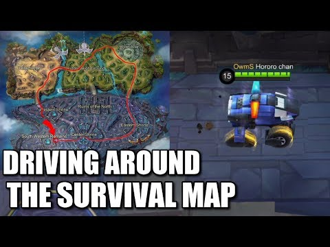 DRIVING AROUND THE SURVIVAL MAP