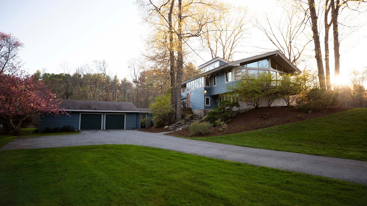 15 Annursnac Hill Road Concord Ma Exciting Architect Designed Contemporary On 4 Acre Grounds