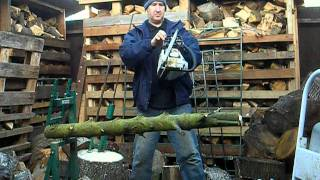 Safe Way To Cut Logs Fire Wood Using The  Eckman Steel Cantilever Wood Log Holder