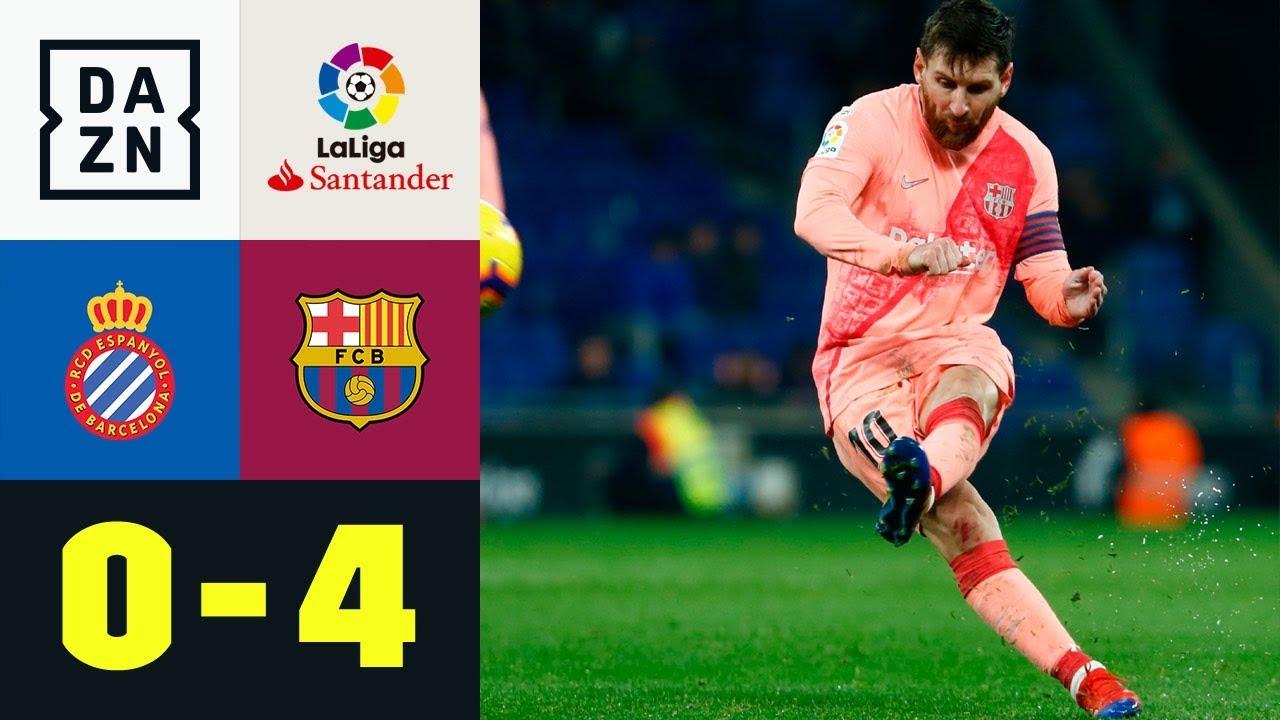 Mit Lionel Messis Doppelpack zu Derby-Kantersieg: Espanyol - FC Barcelona 0:4   LaLiga   Highlights