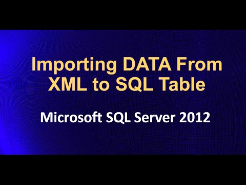 relationship of sql and xml data