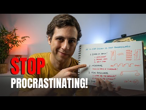 A SYSTEM TO STOP PROCRASTINATING - 4 Steps to Overcome Procrastination NOW