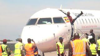 GOLOLA MOSES AKOZE AMAALO NGA BATONGOZA UGANDA AIRLINE CRJ900 BOMBARDIER