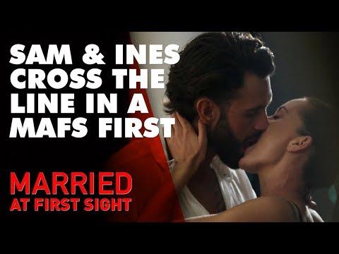 'It feels so wrong': Sam and Ines kiss | MAFS 2019