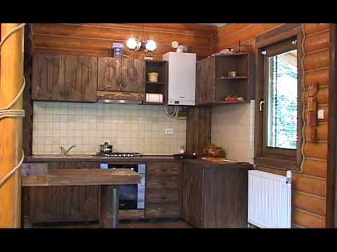 Amenajarea interioara a unei case din lemn rotund youtube for Modeluri de case