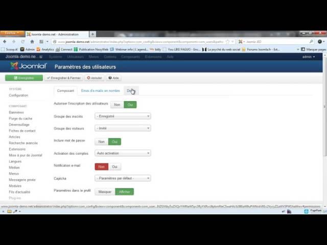 Joomla 3 - Envoi d'e-mails en nombre et messagerie privée