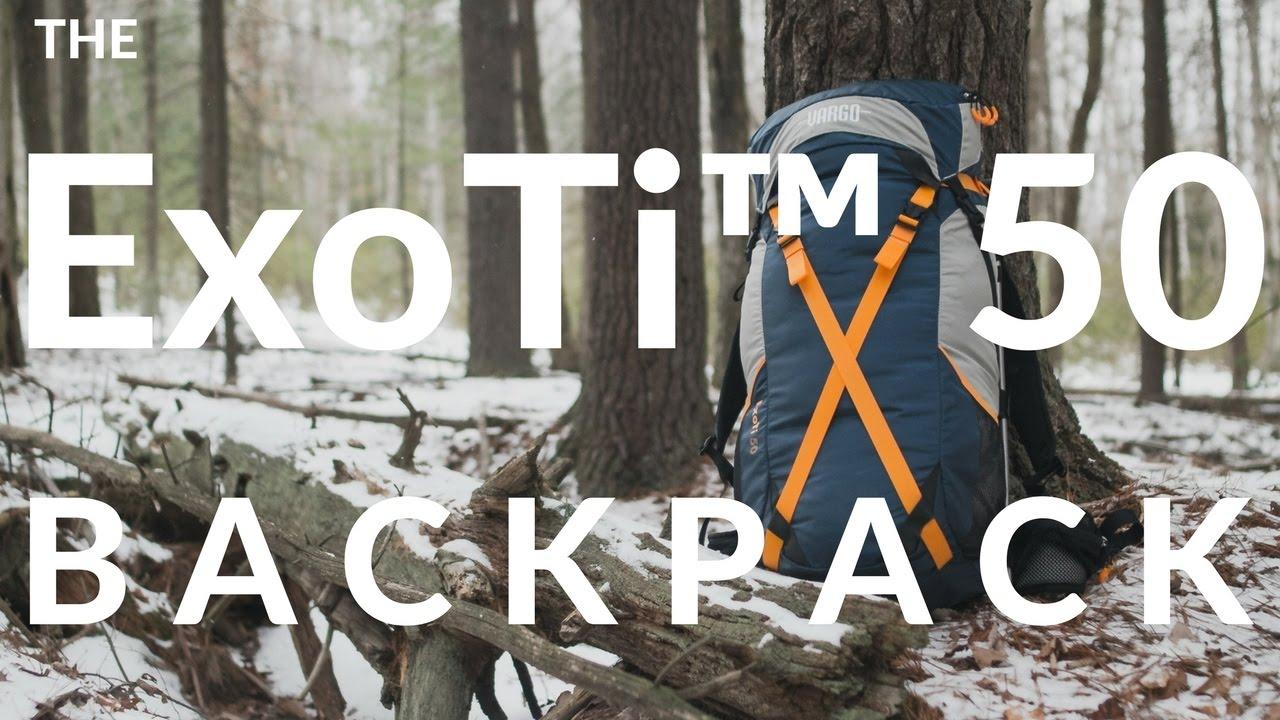 Titanium External Frame Backpack
