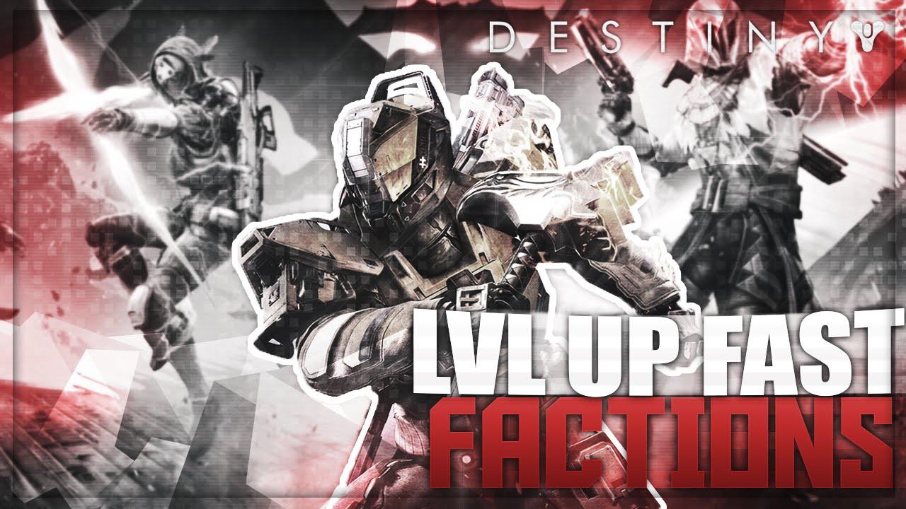 Destiny quot rank up factions quot how to level up factions destiny