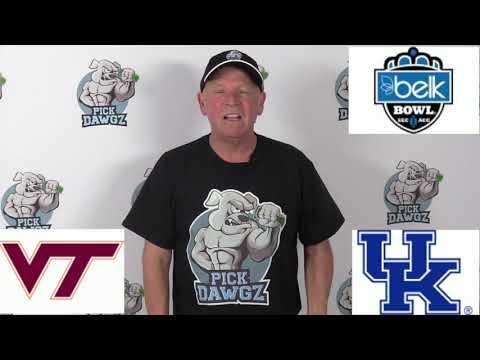 Kentucky vs Virginia Tech 12/31/19 Free College Football Pick and Prediction: Belk Bowl
