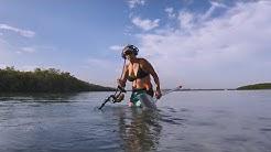 Metal detecting a popular sandbar in Stuart Florida