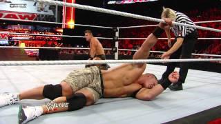 Raw: John Cena vs. The Miz.