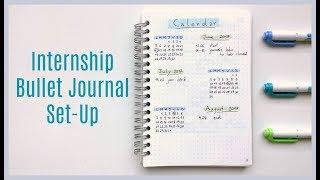 internship bullet journal set up   minimalist bullet journal   bujo boosted
