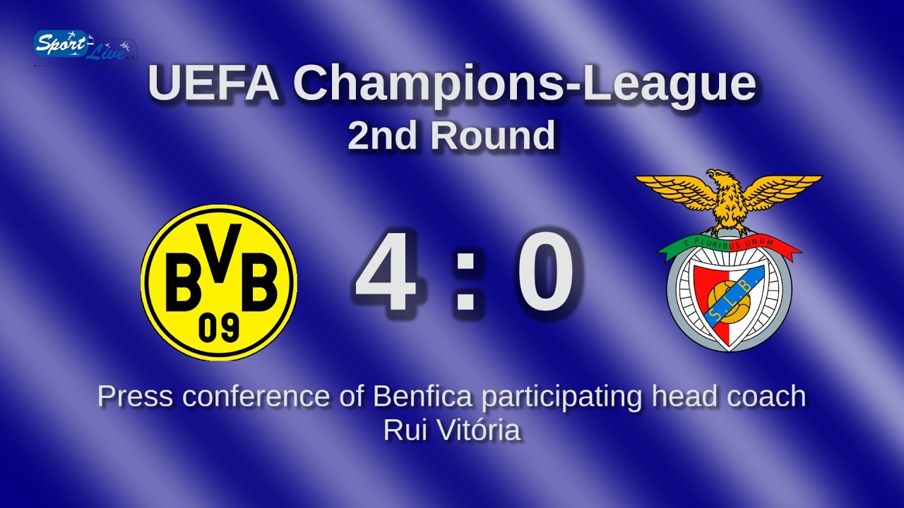Borussia Dortmund - Benfica Lissabon: Pk mit Rui Vitória