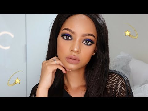Midnight Blue Glitter Makeup Tutorial | MIHLALI N