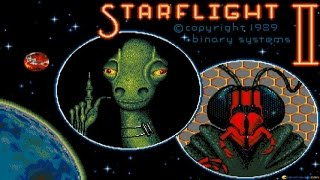 Starflight 2 - Trade Routes of the Cloud Nebula gameplay (PC Game, 1989)