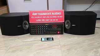 Bộ dàn karaoke gia đình gồm amply 203N 4 sò JK + đôi loa bose 301 sr5 loại 1 cực hay