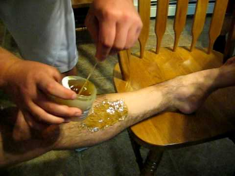 Hairy leg waxing