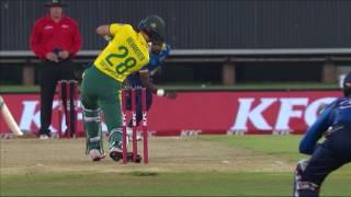South Africa vs Sri Lanka - 1st T20 - SA Innings Highlights