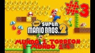 Guia de New Super Mario Bros 2 [100%] Parte 3   Mundo 1-Torreón y Mundo 1-4