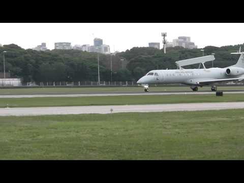 Embraer 145/E-99 Fuerza Aérea Brasilera - Despegando de Aeroparque - [HD]