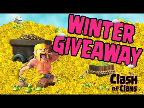 Clash of Clans FREE Gems - Winter Giveaway - iTunes, Google Play Gift Cards and Free Gems!