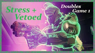 Game 1: Stress & Vetoed play SWEATY doubles! [Halo 5]