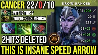 EPIC Midlane Drow 2 Hits Delete Medusa Full Agility Build Insane Speed Arrow 22Kills no Death Dota 2