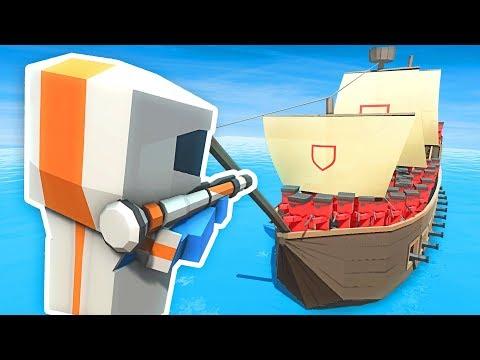 FUTURE RPG Vs PIRATE SHIP IN ANCIENT WARFARE 3 (Ancient Warfare 3 Funny Gameplay)