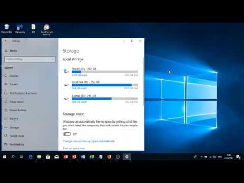 ดูพื้นที่ Windows 10 วิธีการดูพื้นที่ Windows 10 ว่าแต่ละไดร์เหลือพื้นที่เท่าไหร่