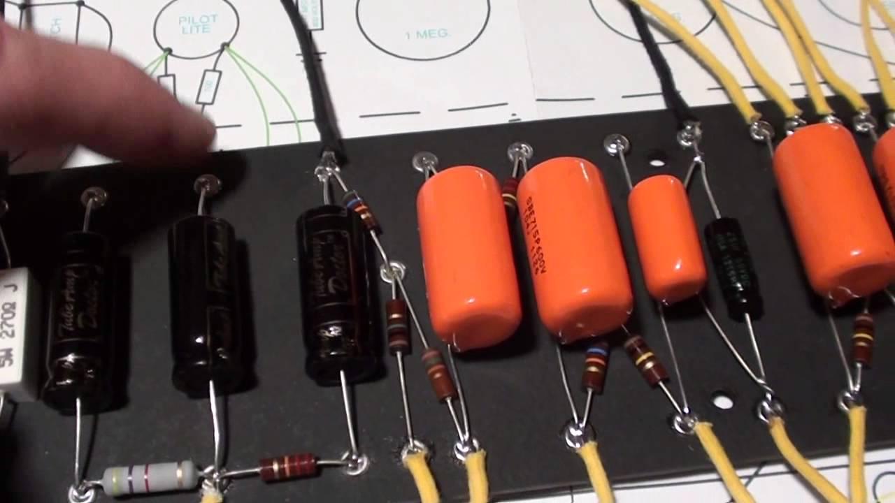 mojotone tweed deluxe amp kit the eyelet board [ 1280 x 720 Pixel ]