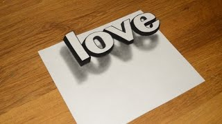 Простое 3D Граффити Как нарисовать иллюзию LOVE(Нарисуй простое граффити сам !В этом видео , как нарисовать иллюзию Простое 3D Граффити . Здесь достаточно..., 2017-01-28T05:54:06.000Z)