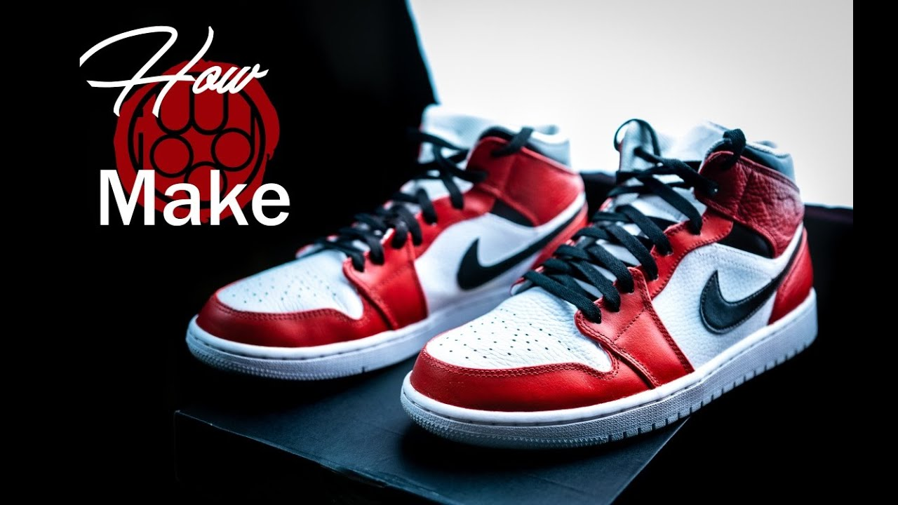 reputable site 2182b 7cbdb HOW TO MAKE CUSTOM SNEAKERS WITH ANGELUS PAINT   Air Jordan 1   Spiderman  Cosplay Shoes