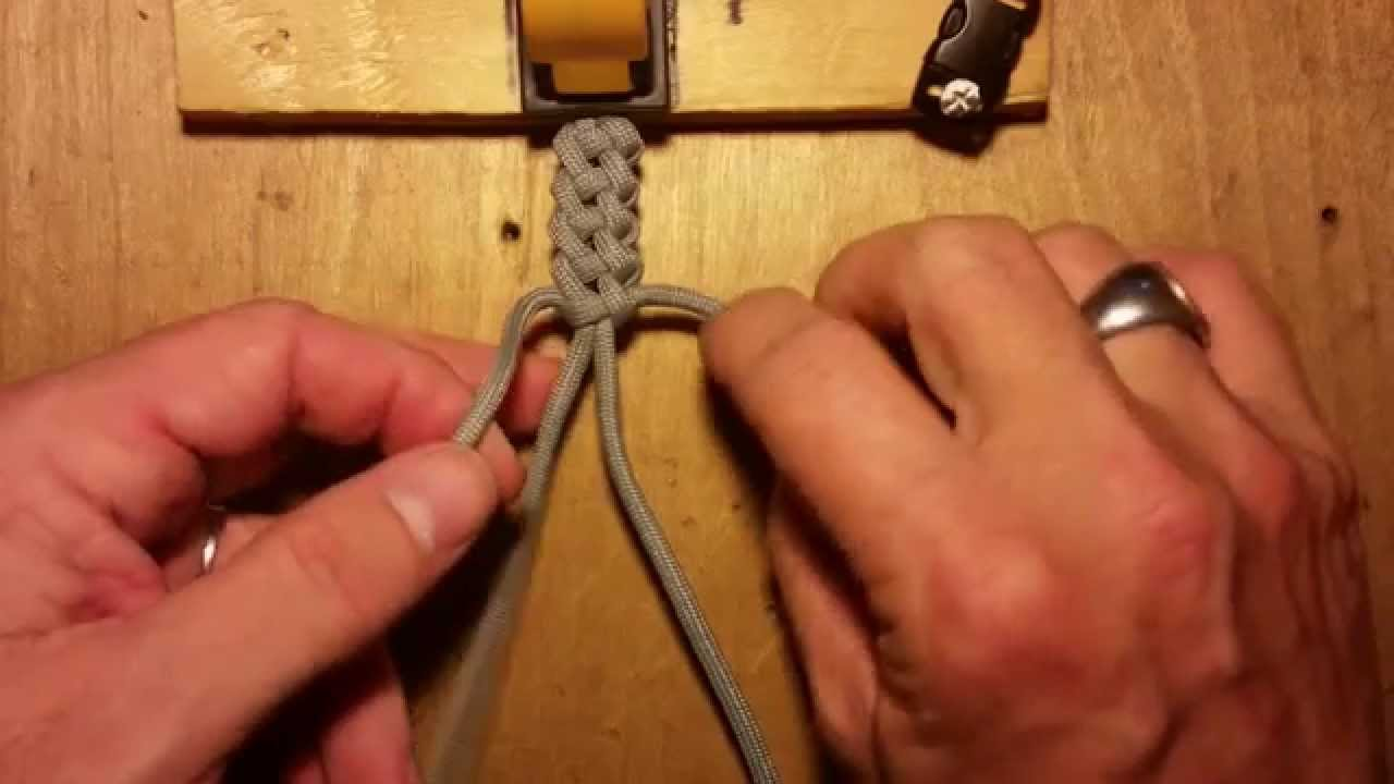 Knot Tutorial 3 of 3 (Vertical Crown Knot or Double Crown Sinnet)
