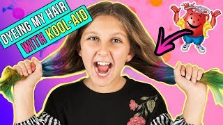 I dyed my hair with Kool-aid!!! MY FIRST VIDEO EVER! Mimi Locks 💜