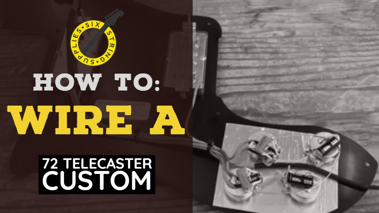 How to Wire a 72 Telecaster Deluxe - YouTubeYouTube