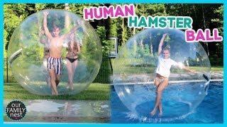 HUMAN HAMSTER BALL!  WALKING ON WATER!