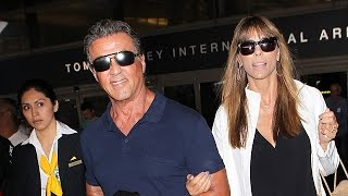 Sylvester Stallone And Family Return From Vacation