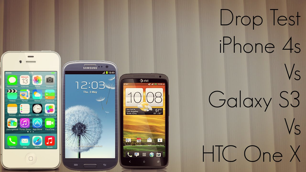 Drop test: Apple iPhone 5 vs. Samsung Galaxy S3